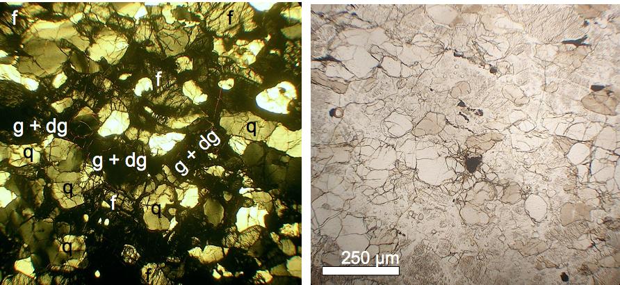 Niederrhein-Impakt Schockeffekt planare Deformationsstrukturen PDF, diaplektisches Glas